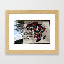 The Great Rift Valley Framed Art Print