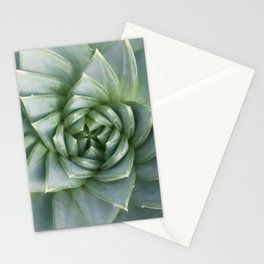 Succulent Spiral Stationery Cards