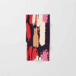 Abstract Brushstrokes in Pink and Red Hand & Bath Towel