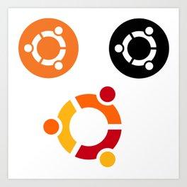 ubuntu operating system stickers linux Art Print