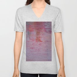abstract sunset in the sand Unisex V-Neck