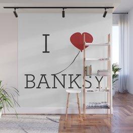 I heart Banksy Wall Mural