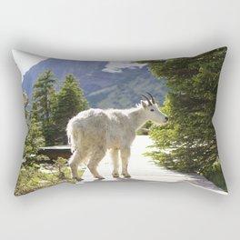 Mountain Goat in Glacier National Park Rectangular Pillow