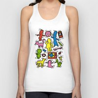 simpsons Tank Tops featuring Keith Haring & Simpsons by le.duc