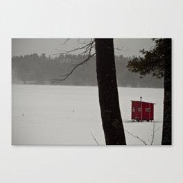 Ice Fishing Shack Canvas Print