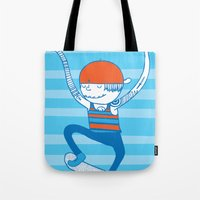 skate Tote Bags featuring Skate by Devin Soisson