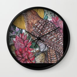 Gold Pheasant Coucal Wall Clock