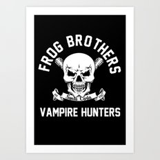 Frog Brothers Art Print