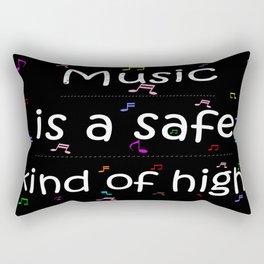 Music is a safe Famous Guitars Inspirational Motivational Quotes Rectangular Pillow