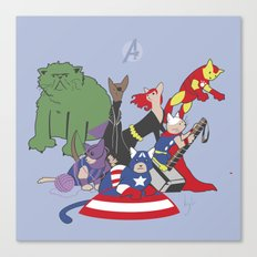 The Catvengers - Earth's Mightiest Kitties Canvas Print