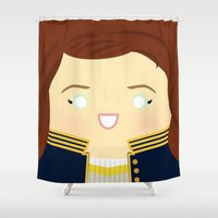 writer Shower Curtains featuring The Song Writer by discojellyfish