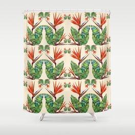 Bird of Paradise Botanical Shower Curtain