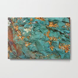 Gold and Copper Metal Print
