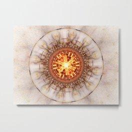 Aztec Medailon - Abstract Fractal Artwork Metal Print