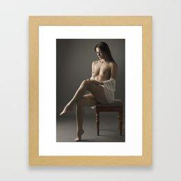 beige stockings 01 Framed Art Print