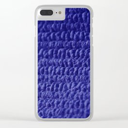 Blue Bubble Row Textile Photo Art Clear iPhone Case