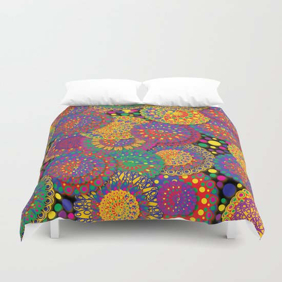 Festival of Flowers Duvet Cover