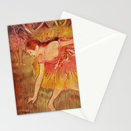 Edgar Germain Hilaire Degas Bowing Dancers 1885 Stationery Cards