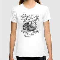 stiles T-shirts featuring Sterek Sleepy Wolf & Stiles III by siny