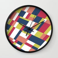 matisse Wall Clocks featuring Map Matisse Stretched by Project M