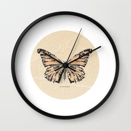 Bullet with Butterfly Wings Wall Clock