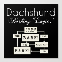 Barking is the Option Canvas Print