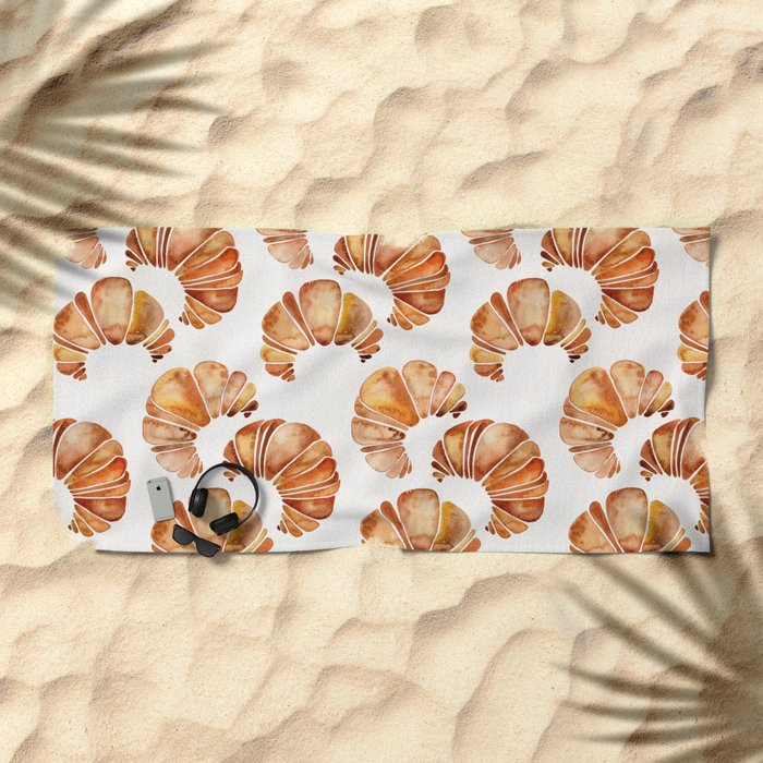 Croissant Collection Beach Towel