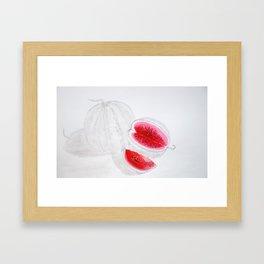 Water-melon Framed Art Print