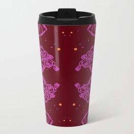 Pink Cluster Metal Travel Mug
