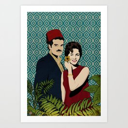 Omar Sherif & Faten Hamama Art Print