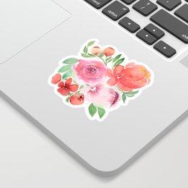 Peach Peonies Sticker
