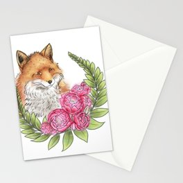 Fox in Bloom Stationery Cards