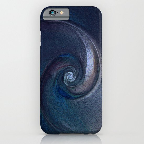 Sea Shell in Dark Blue iPhone & iPod Case