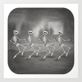 Dancing skeletons II Kunstdrucke