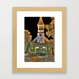 Immaculate Conception Church, Fairbanks Alaska Framed Art Print