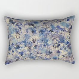 Blue Swirls in Acrylic Rectangular Pillow
