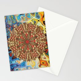 Red Gold Fall Nature Festival Stationery Cards