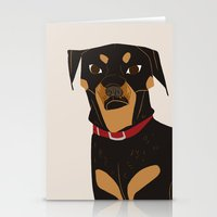 rottweiler Stationery Cards featuring Rottweiler by Reimena Ashel Yee