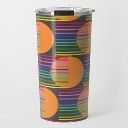 Tangerine Comet Rainbow Black Travel Mug