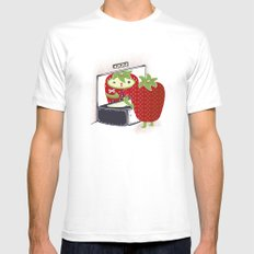 Shaberry Mens Fitted Tee White SMALL