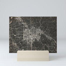 Santa Rosa map California Ink lines Mini Art Print