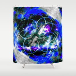 Blue Aura Shower Curtain