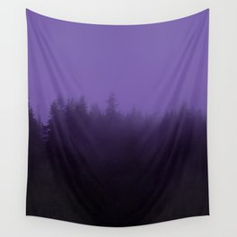 Licorice Forest with Ultra_Violet Fog, Alaska Wall Tapestry