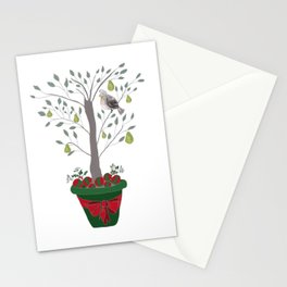 12 Days of Christmas Partridge in a Pear Tree Stationery Cards