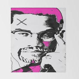 Malcolm X Throw Blanket