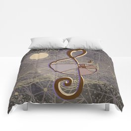 vintage music geometry Comforters