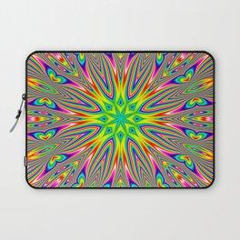 Psychedelic Rainbow Kaleidoscope Laptop Sleeve
