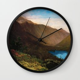 Mount Lafayette - Franconia Notch, New Hampshire by Thomas Hill Wall Clock