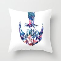 bane Throw Pillows featuring Bane by NKlein Design