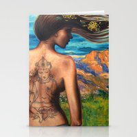 goddess Stationery Cards featuring Goddess by Artist Andrea